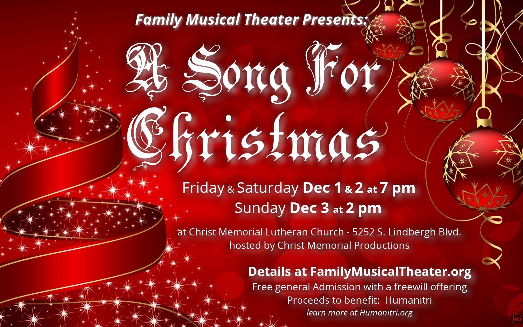 Free Musical Production A Song For Christmas